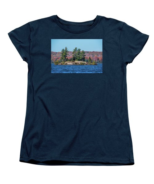 Women's T-Shirt (Standard Cut) featuring the photograph Scenic Fall View by Paul Freidlund