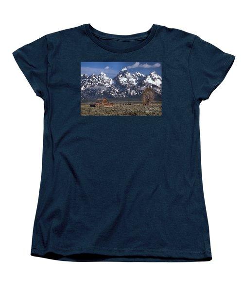 Scenic Mormon Homestead Women's T-Shirt (Standard Cut) by Adam Jewell