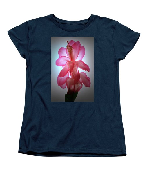Women's T-Shirt (Standard Cut) featuring the photograph Schlumbergera Portrait. by Terence Davis