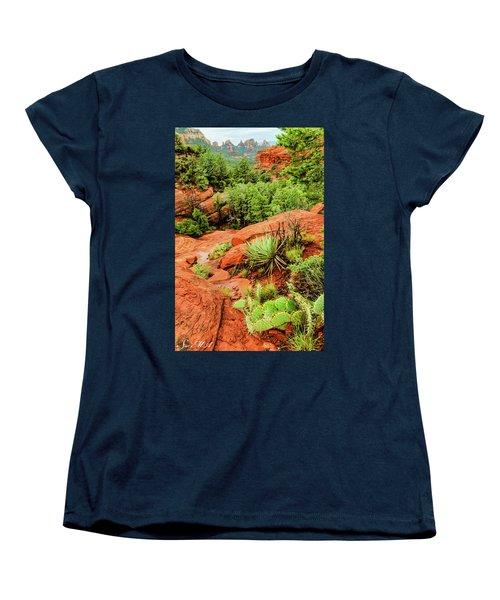 Schnebly Hill 07-057 Women's T-Shirt (Standard Cut) by Scott McAllister