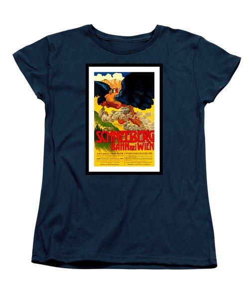 Schneeberg Bahn Bei Wien Railway Austria 1905 Women's T-Shirt (Standard Cut) by Peter Gumaer Ogden Collection