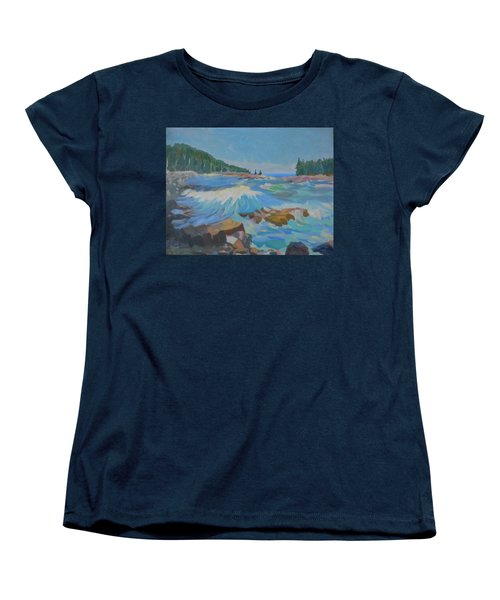 Women's T-Shirt (Standard Cut) featuring the painting Schoodic Inlet by Francine Frank