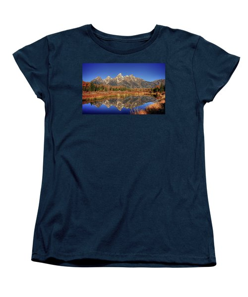 Schwabacher Landing Grand Teton National Park Women's T-Shirt (Standard Cut) by James Hammond