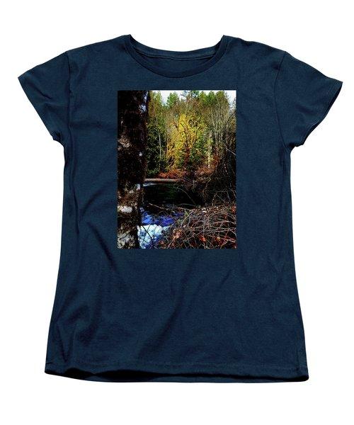 Scoggins Creek 3 Women's T-Shirt (Standard Cut) by Jerry Sodorff