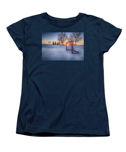 Women's T-Shirt (Standard Cut) featuring the photograph Scoring The Sunset 3 by Darcy Michaelchuk
