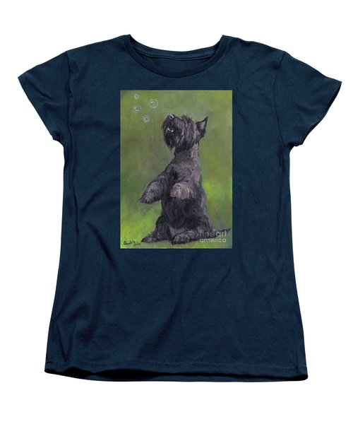 Scottie Likes Bubbles Women's T-Shirt (Standard Cut)