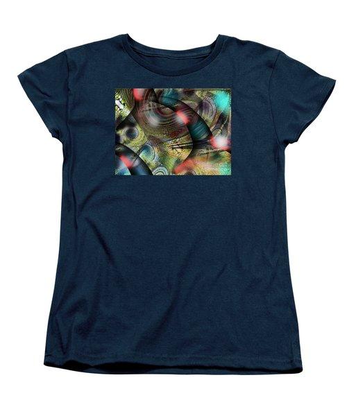 Screaming Spirals Women's T-Shirt (Standard Cut) by Yul Olaivar