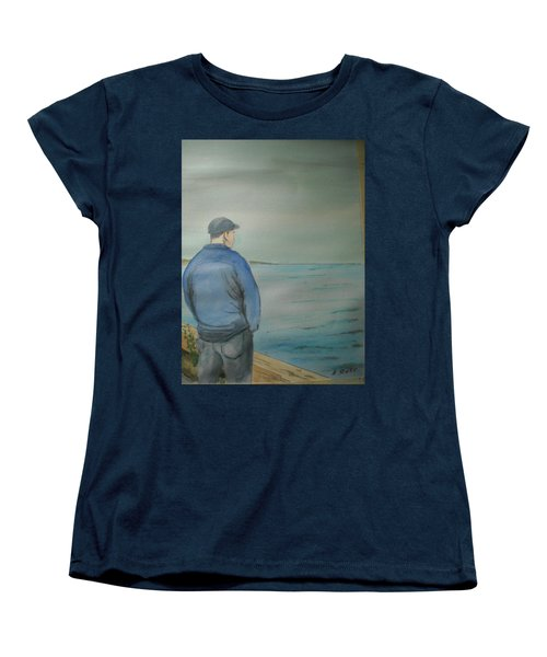 Women's T-Shirt (Standard Cut) featuring the painting Sea Gaze by Anthony Ross