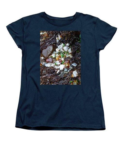 Sea Glass Nest Women's T-Shirt (Standard Cut) by Amelia Racca