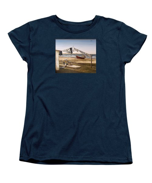 Women's T-Shirt (Standard Cut) featuring the painting Sea Kids by Natalia Tejera