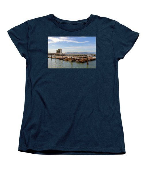 Sea Lions At Pier 39 In San Francisco Women's T-Shirt (Standard Fit)