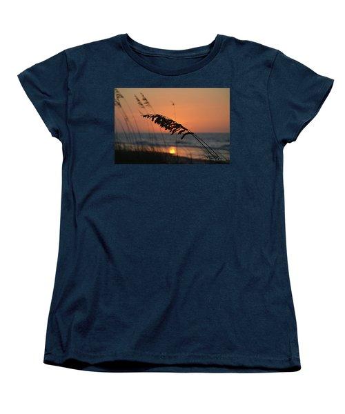 Sea Oats At Sunrise Women's T-Shirt (Standard Cut) by Gordon Mooneyhan