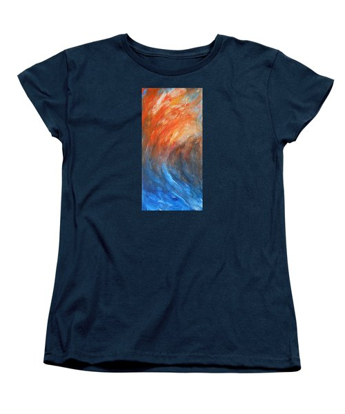 Women's T-Shirt (Standard Cut) featuring the painting Sea Of Passion by Jane See