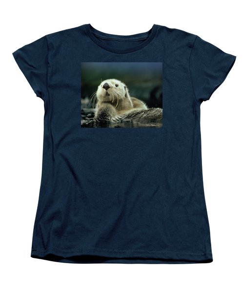 Sea Otter  Women's T-Shirt (Standard Cut) by Tim Fitzharris