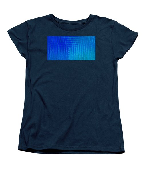 Sea Song Blue On Blue Women's T-Shirt (Standard Cut) by Stephanie Grant