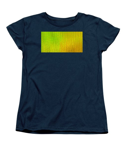 Sea Song Green And Gold Women's T-Shirt (Standard Cut) by Stephanie Grant