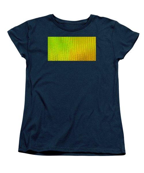 Sea Song Green And Gold Women's T-Shirt (Standard Cut)