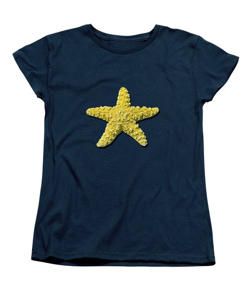 Sea Star Yellow .png Women's T-Shirt (Standard Cut) by Al Powell Photography USA