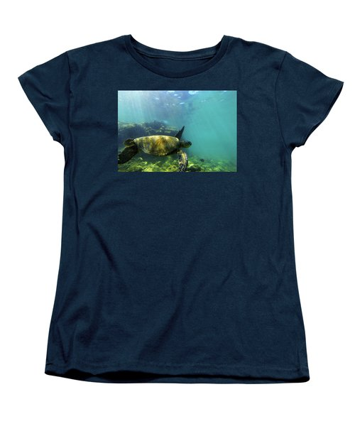 Women's T-Shirt (Standard Cut) featuring the photograph Sea Turtle #5 by Anthony Jones