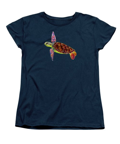 Women's T-Shirt (Standard Cut) featuring the painting Sea Turtle by Hailey E Herrera