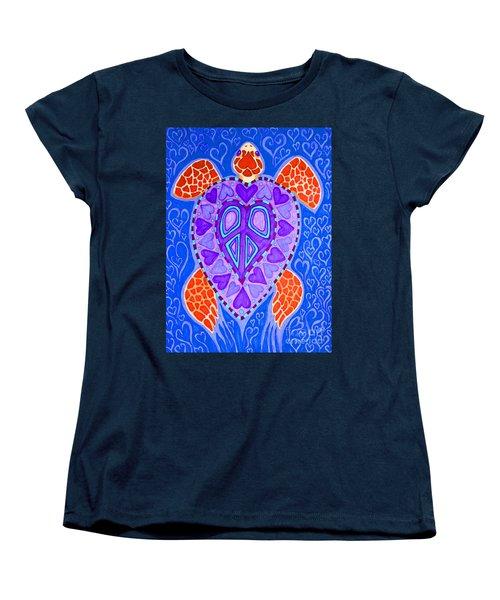 Sea Turtle Hearts 2 Women's T-Shirt (Standard Cut)