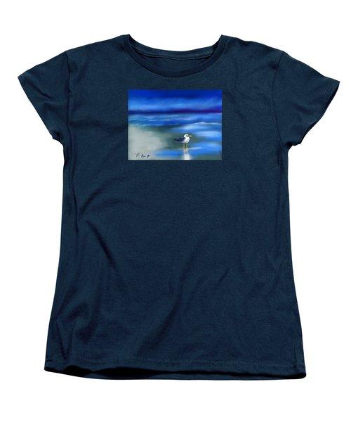 Seagull Standing 2 Women's T-Shirt (Standard Cut) by Frank Bright