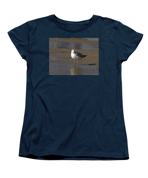 Seagull Standing Women's T-Shirt (Standard Cut) by Tara Lynn