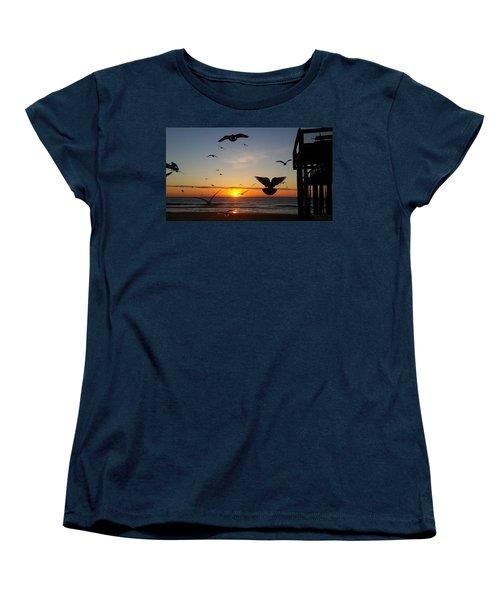 Seagulls At Sunrise Women's T-Shirt (Standard Cut)