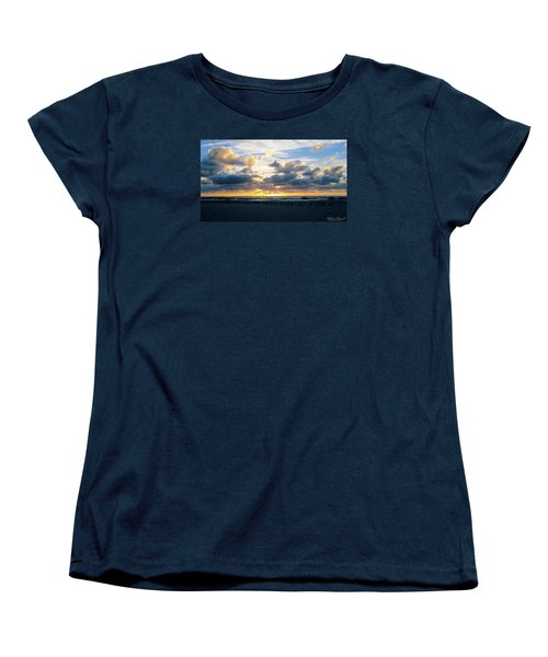 Seagulls On The Beach At Sunrise Women's T-Shirt (Standard Cut)