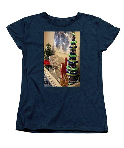 Seahawk Christmas Women's T-Shirt (Standard Cut) by Judyann Matthews