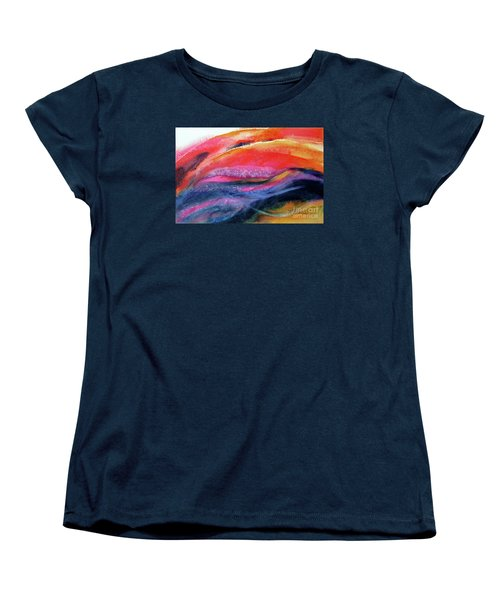 Women's T-Shirt (Standard Cut) featuring the painting Seams Of Color by Kathy Braud