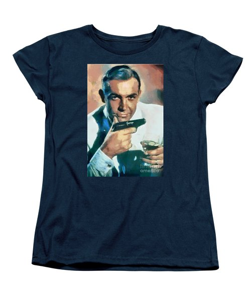Sean Connery Women's T-Shirt (Standard Cut) by Sergey Lukashin