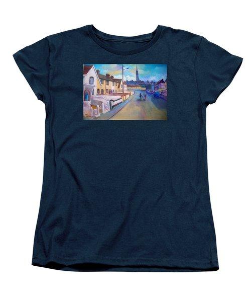 Women's T-Shirt (Standard Cut) featuring the painting Sean Hueston Place Limerick Ireland by Paul Weerasekera