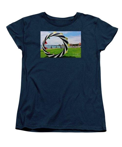 Women's T-Shirt (Standard Cut) featuring the photograph Seaport Villagethrough My Lens by Jasna Gopic