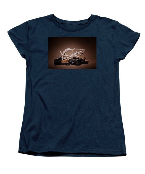 Seashells On The Rocks Women's T-Shirt (Standard Cut) by Tom Mc Nemar