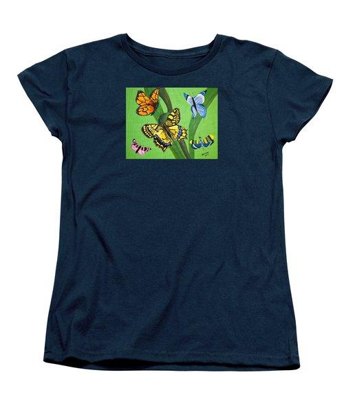 Season Of Butterflies Women's T-Shirt (Standard Cut) by Donna Blossom