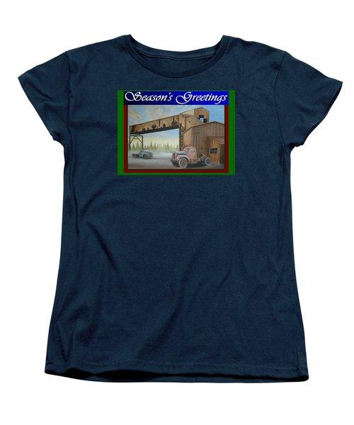 Season's Greetings Old Mine Women's T-Shirt (Standard Cut) by Stuart Swartz