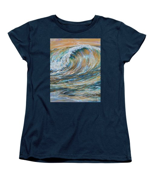 Seaspray Gold Women's T-Shirt (Standard Cut) by Linda Olsen
