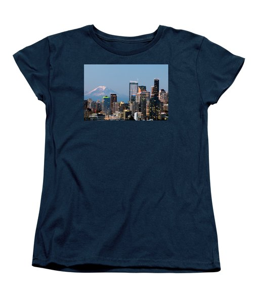 Seattle At First Light I Women's T-Shirt (Standard Cut) by E Faithe Lester