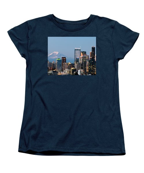 Seattle At First Light II Women's T-Shirt (Standard Cut) by E Faithe Lester