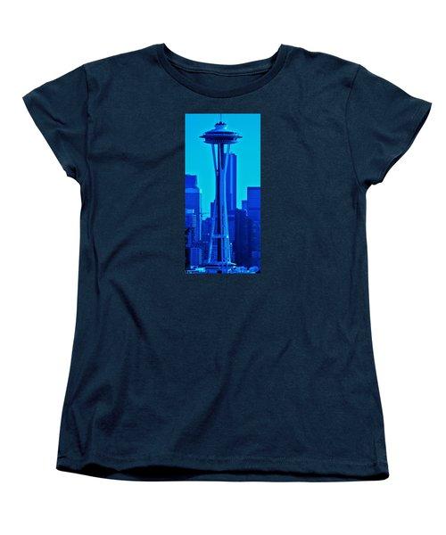 Seattle Blue Women's T-Shirt (Standard Cut) by Martin Cline