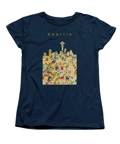 Seattle Skyline 1 Women's T-Shirt (Standard Cut) by Alberto RuiZ