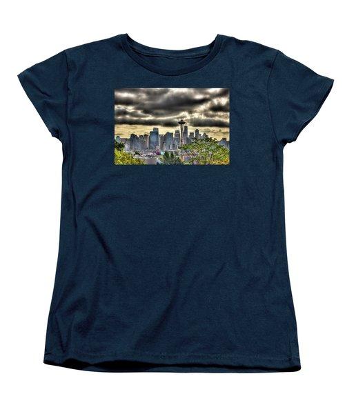 Seattle Washington Women's T-Shirt (Standard Cut) by David Patterson