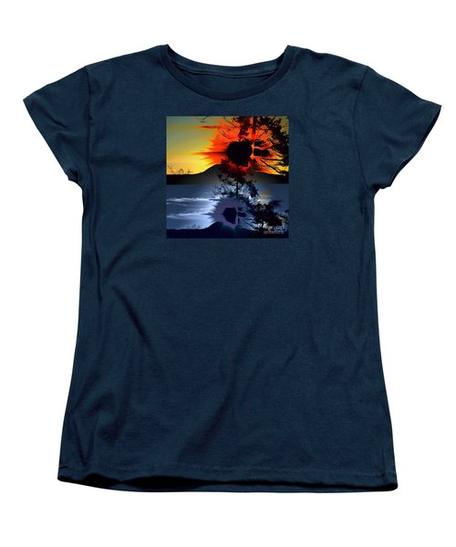 Sechelt Tree Sun And Moon Women's T-Shirt (Standard Cut) by Elaine Hunter