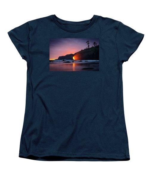 Second Beach Light Shaft Women's T-Shirt (Standard Cut) by Dan Mihai