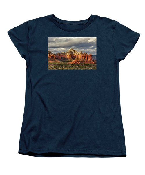 Women's T-Shirt (Standard Cut) featuring the photograph Sedona Skyline by James Eddy