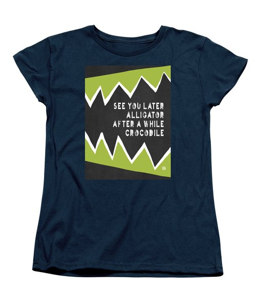 Women's T-Shirt (Standard Cut) featuring the painting See You Later Alligator by Lisa Weedn