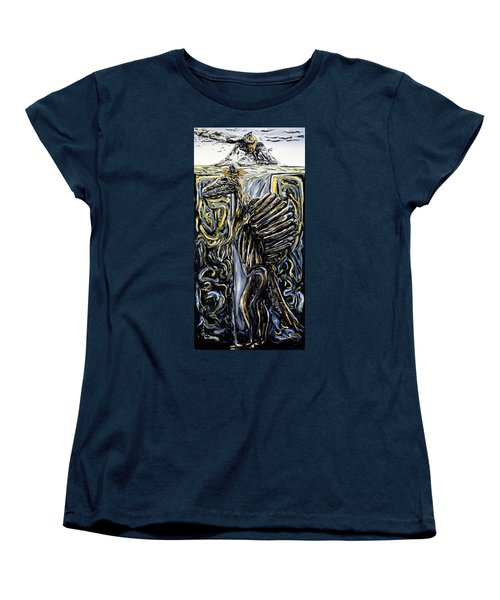 Women's T-Shirt (Standard Cut) featuring the painting Self-portrait- Meme by Ryan Demaree