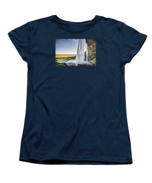 Seljalandsfoss Women's T-Shirt (Standard Cut) by Brad Grove