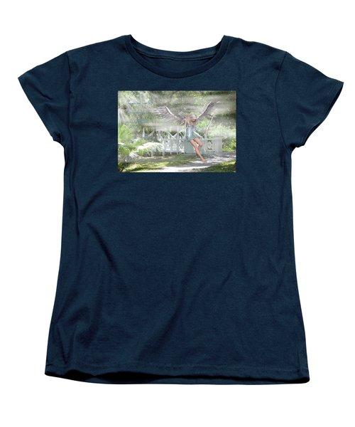 Sent From Heaven Women's T-Shirt (Standard Cut) by Rosalie Scanlon